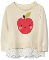 Gap Apple mix-fabric peplum sweater