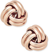 Giani Bernini Love Knot Stud Earrings in 18k Rose Gold-Plated Sterling Silver, Only at Macy's