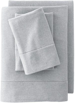 Lands' End Supima Flannel Heather Extra Long Sheet Set