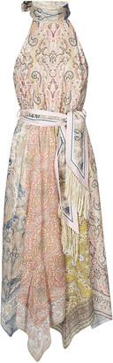 Zimmermann Sleeveless Printed Tied Waist Dress