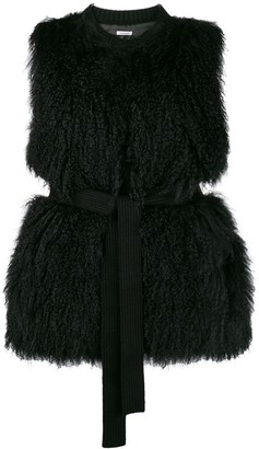 P.A.R.O.S.H. Belted Fur Gilet