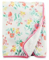 Carter's Floral Sherpa-Lined Fleece Blanket