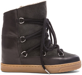 Etoile Isabel Marant Nowles Shearling and Leather Boots