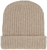 The Elder Statesman Men's Ribbed Cashmere Hat-TAN