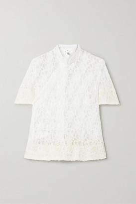 Comme des Garcons Lace Wrap Top - White