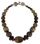 Stephen Dweck Amber, Smoky Quartz & Tourmalinated Quartz Necklace