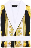 Versace CRETE DE FLEUR COTTON BATHROBE