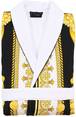 Versace Crete De Fleur Cotton Bathrobe