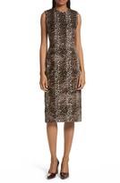 Rachel Comey Women's Sling Cheetah Faux Fur Sheath Dress
