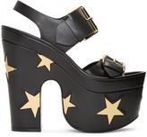 Stella McCartney Black Platform Buckles Stars Sandals