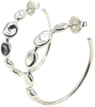 Ippolita Sterling Silver Onda 5 Station Hoop Earrings