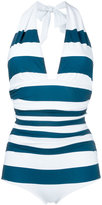 Dolce & Gabbana striped swimsuit - women - Polyamide/Spandex/Elastane - 2