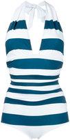 Dolce & Gabbana striped swimsuit - women - Polyamide/Spandex/Elastane - 3