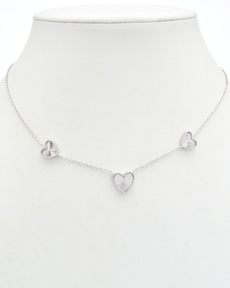 Alanna Bess Limited Collection Silver Three Heart Necklace