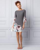 Le Château Floral Print Crêpe de Chine Tunic Dress