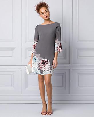 Le Château Floral Print Crepe de Chine Tunic Dress