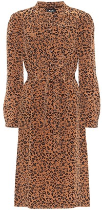 A.P.C. Lio leopard-print silk midi dress
