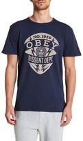 Obey Dissent Department Graphic Crew Neck Tee