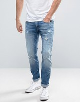 Replay Anbass Slim Fit Jeans Ripped Light Wash