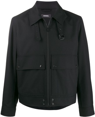 Diesel Boxy jacket with belted collar