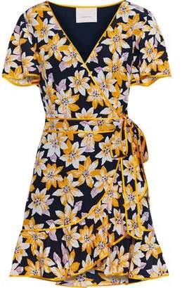 Cinq à Sept Cameron Floral-print Silk Crepe De Chine Mini Wrap Dress