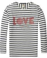 Scotch & Soda R'Belle Girl's Dropped Shoulder Breton L/s Tee T-Shirt,(Manufacturer size: 8)