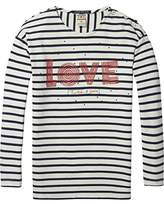 Scotch & Soda R'Belle Girl's Dropped Shoulder Breton L/s Tee T-Shirt