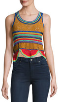 Roberto Cavalli Crocheted Combo Tank Top, Rust