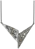 Alexis Bittar Crystal Encrusted Origami Pendant Necklace Necklace