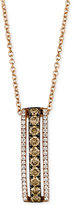 LeVian Le Vian White and Chocolate Diamond Pendant Necklace in 14k Rose Gold (1/2 ct. t.w.)
