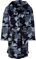 River Island Boys blue camo dressing gown