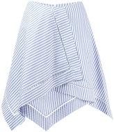 J.W.Anderson striped asymmetric skirt - women - Cotton - 10