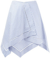 J.W.Anderson striped asymmetric skirt - women - Cotton - 6