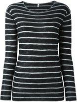 R 13 striped sweater