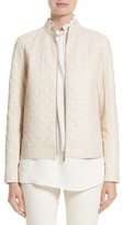 Lafayette 148 New York Women's Becks Quilted Lambskin Leather Moto Jacket