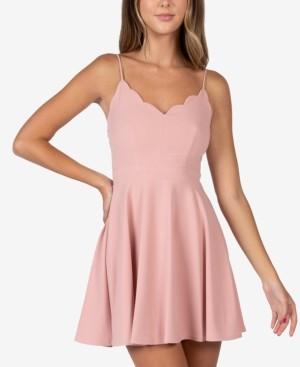Bee Darlin B Darlin Juniors' Scalloped Fit & Flare Dress