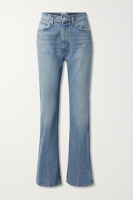 AGOLDE + Net Sustain Organic High-rise Flared Jeans