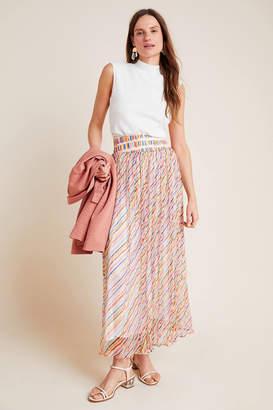 Celiab Pilar Silky Shimmer Maxi Skirt