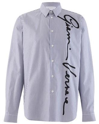 Versace Logo striped shirt