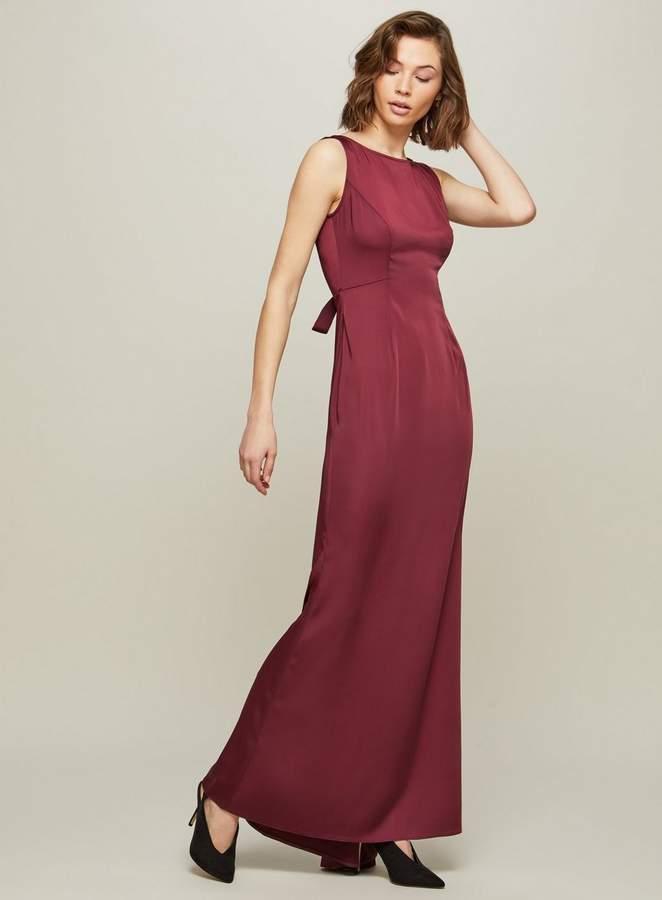 Miss Selfridge Burgundy Fishtail Prom Maxi Dress