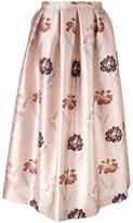 Rochas floral print full skirt - women - Silk/Polyester - 44