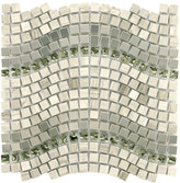 """EliteTile Sierra 0.63"""" x 0.63"""" Glass/Stone/Metal Mosaic Tile in Wave Mercury"""