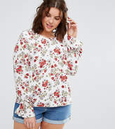 Alice & You Floral Cluster Blouse With Tie Detail Cuff