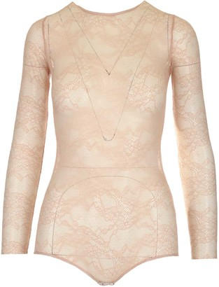 RED Valentino Floral Lace Bodysuit