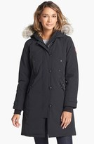 Canada Goose Women's Kensington Slim Fit Down Parka With Genuine Coyote Fur Trim