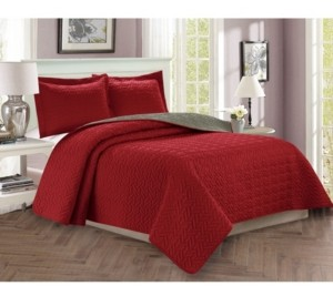 Elegant Comfort Luxury 3-Piece Bedspread Coverlet Majestic Design Quilted Set with Shams - Full/Queen Bedding
