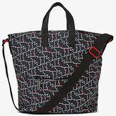 Lulu Guinness Kissing Lips Tote Bag, Black/Chalk