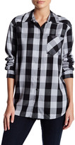 Kensie Long Sleeve Plaid Shirt