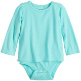 Baby Girl Jumping Beans Adaptive Long-Sleeve Mock-Layer Bodysuit