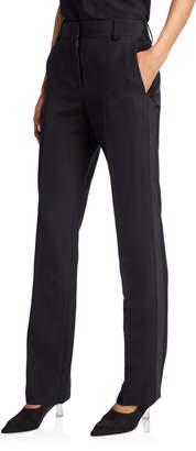 The Row Tacome Wool-Silk Tuxedo Pants